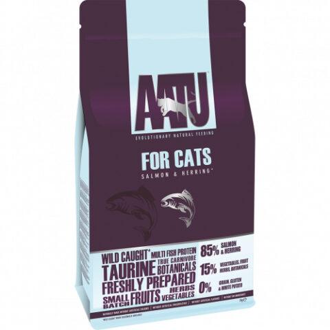 AATU – מזון לחתולים – סלמון והרינג
