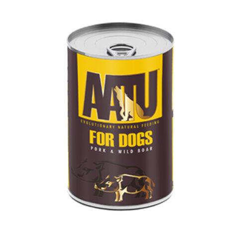 AATU – פחית מזון רטוב לכלבים – בשר חזיר וחזיר בר 400 גרם