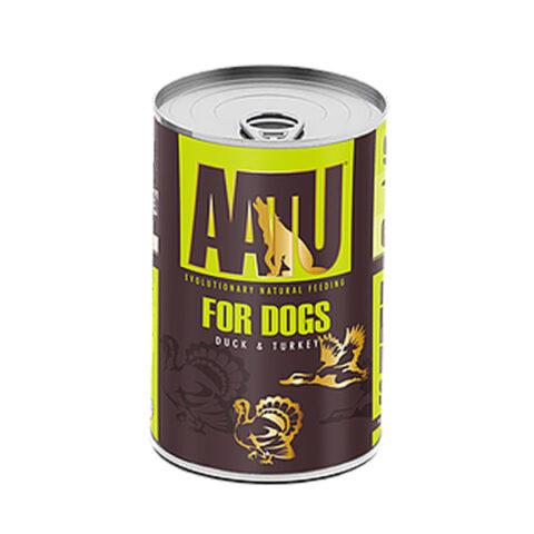 AATU – פחית מזון רטוב לכלבים – הודו וברווז 400 גרם